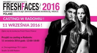 CASTING FRESH FACES POLAND 2016 W RADOMIU